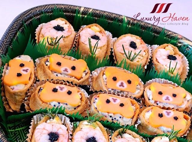 cute caviar inari sushi bento recipes