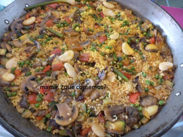 Mam qu comemos paella de verduras for Como hacer paella de verduras
