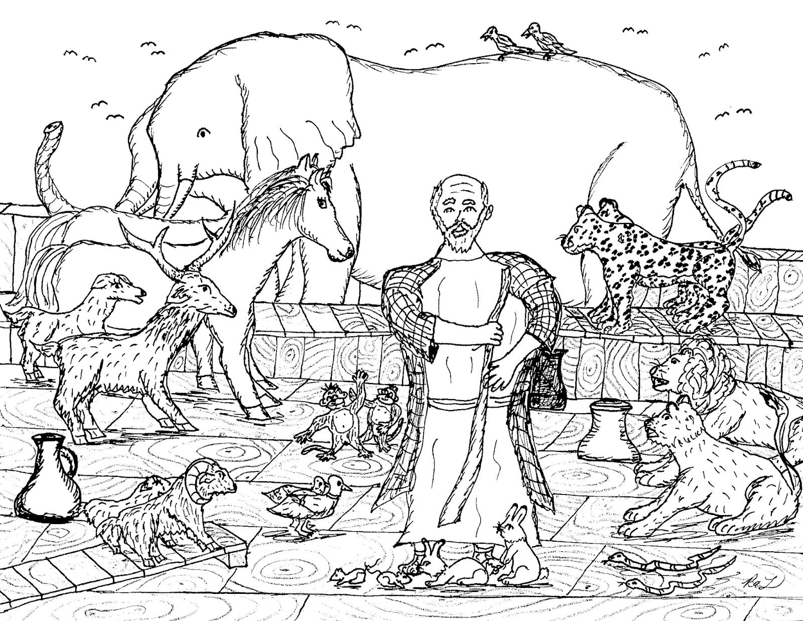 Excepcional Noahs Ark Para Colorear Imprimible Inspiración - Dibujos ...