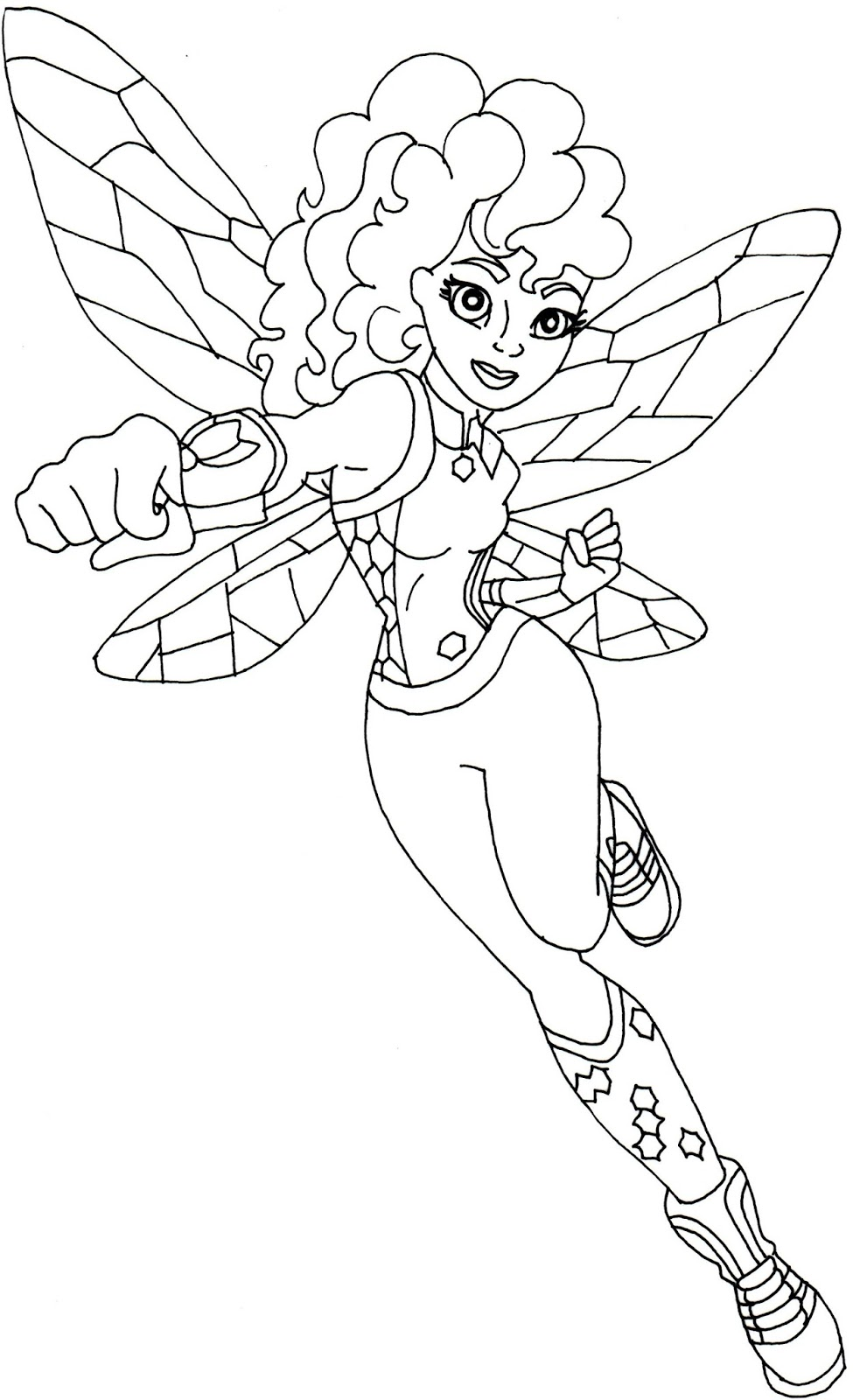 Bumblebee Super Hero High Coloring Page