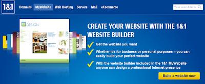 Create Website with 1&1 website builder
