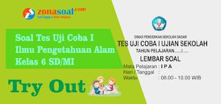 Soal Tes Uji Coba 1 (Try Out) IPA Kelas 6 SD/MI Terbaru Plus Kunci Jawaban