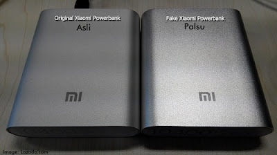 Cara membedakan powerbank xiaomi yang asli
