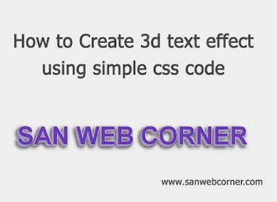 HOW TO CREATE 3D TEXT EFFECT USING SIMPLE CSS CODE