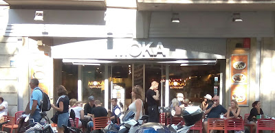 en la Rambla de Barcelona