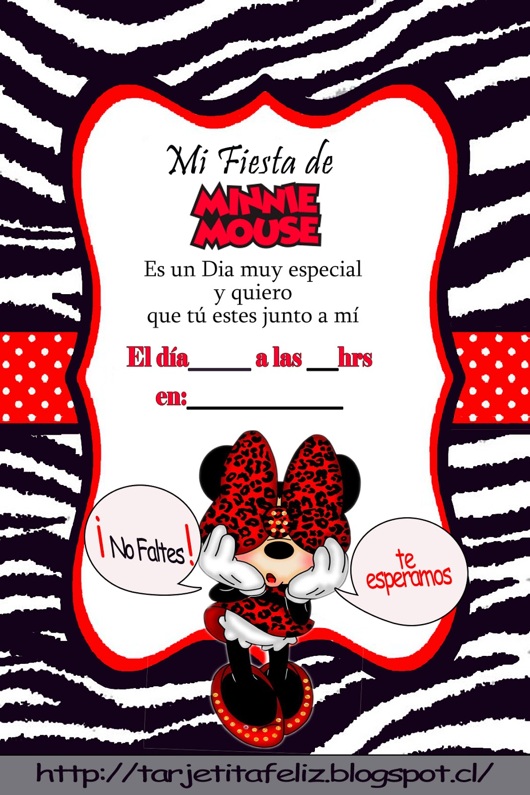 Invitaciones Cumpleaños Minnie