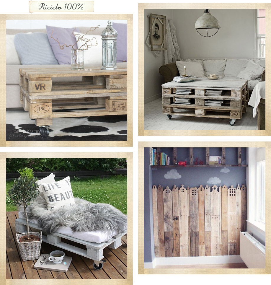 Un grande protagonista il pallet shabby chic interiors for Pallet shabby chic