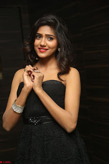 Shalu Chourasiya in spicy Sleeveless Strapless Black Top at O Pilla Nee Valla Movie Audio Launch Feb 2017 129.JPG