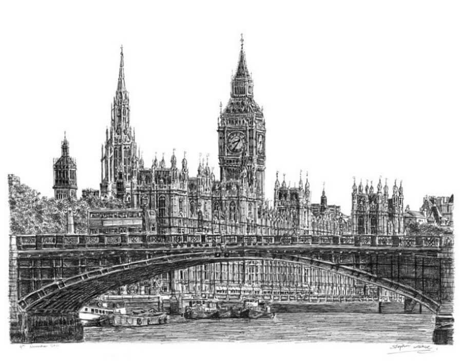 08-Houses-of-Parliament-and-Big-Ben-Stephen-Wiltshire-Urban-Cityscapes-www-designstack-co