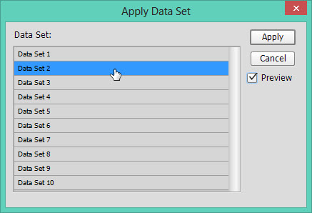 Apply Data Set
