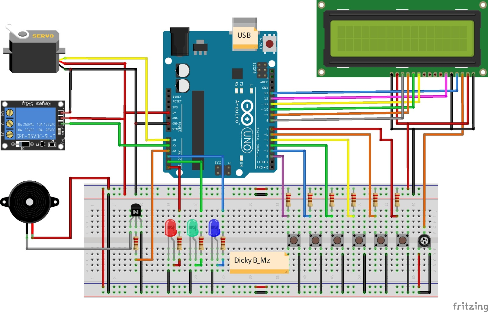 Arduino Keypad Password 6 Digit - Dicky B_Mz
