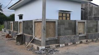 Dinding pagar untuk relief bunga tulip batu paras jogja atau batu paras putih