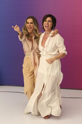Ingird Guimarães e Giovanna Antonelli na mensagem de fim de ano da Globo — Foto: Fábio Rocha/ TV Globo