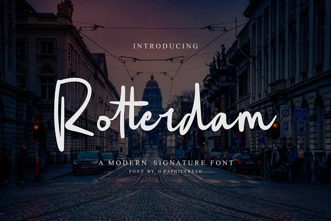 Rotterdam Script Font