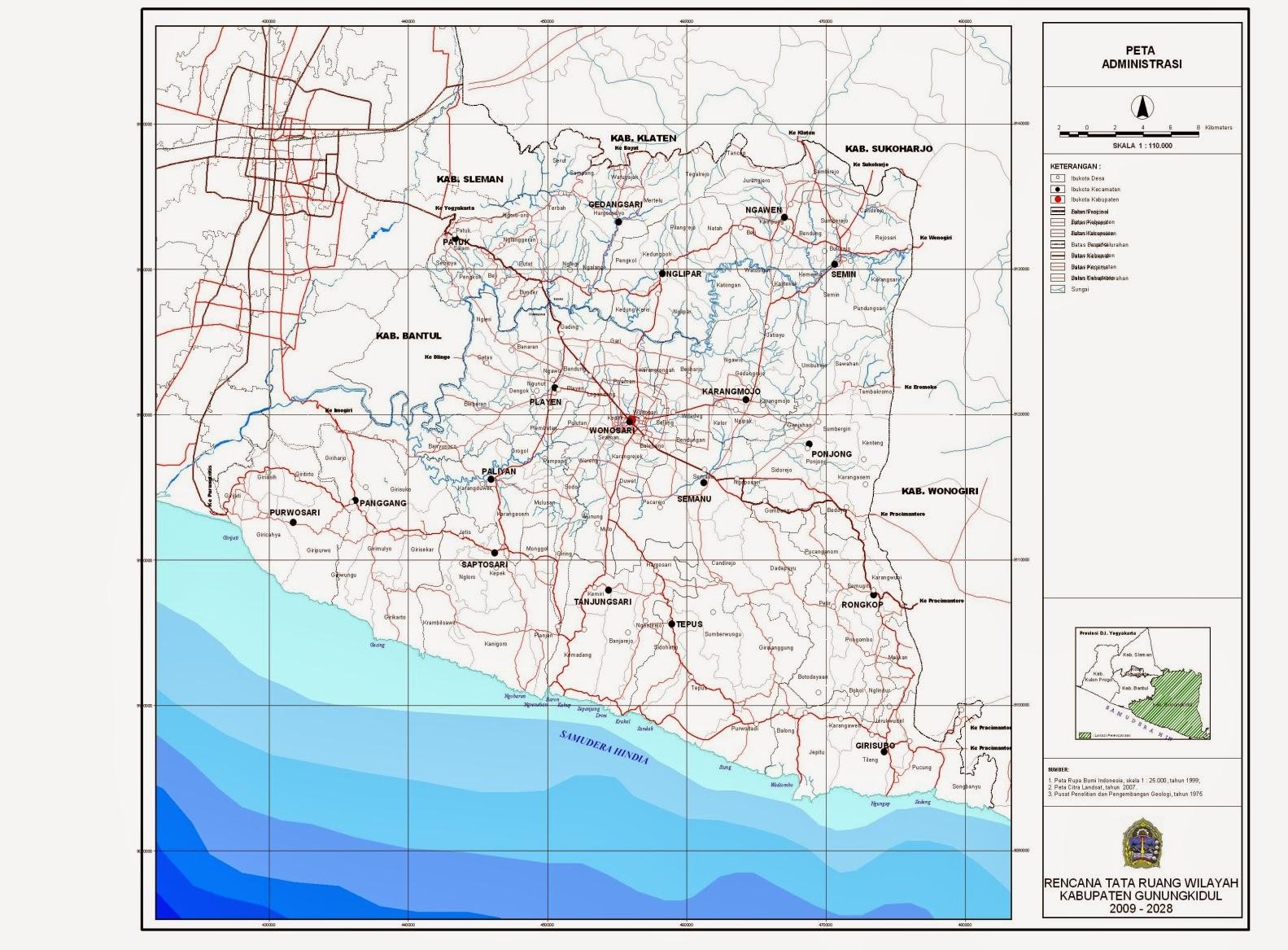 Pembagian Zona Kabupaten Gunungkidul | BPBD Gunungkidul