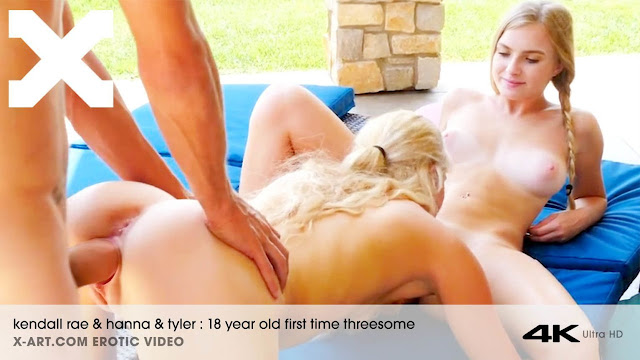 X-Art – Kendall Rae And Hanna 18 Year Old First Time Threesome
