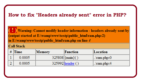 How to fix Headers already sent error in PHP?