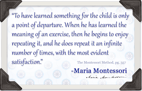 NAMC repetition in the montessori environment maria quote method