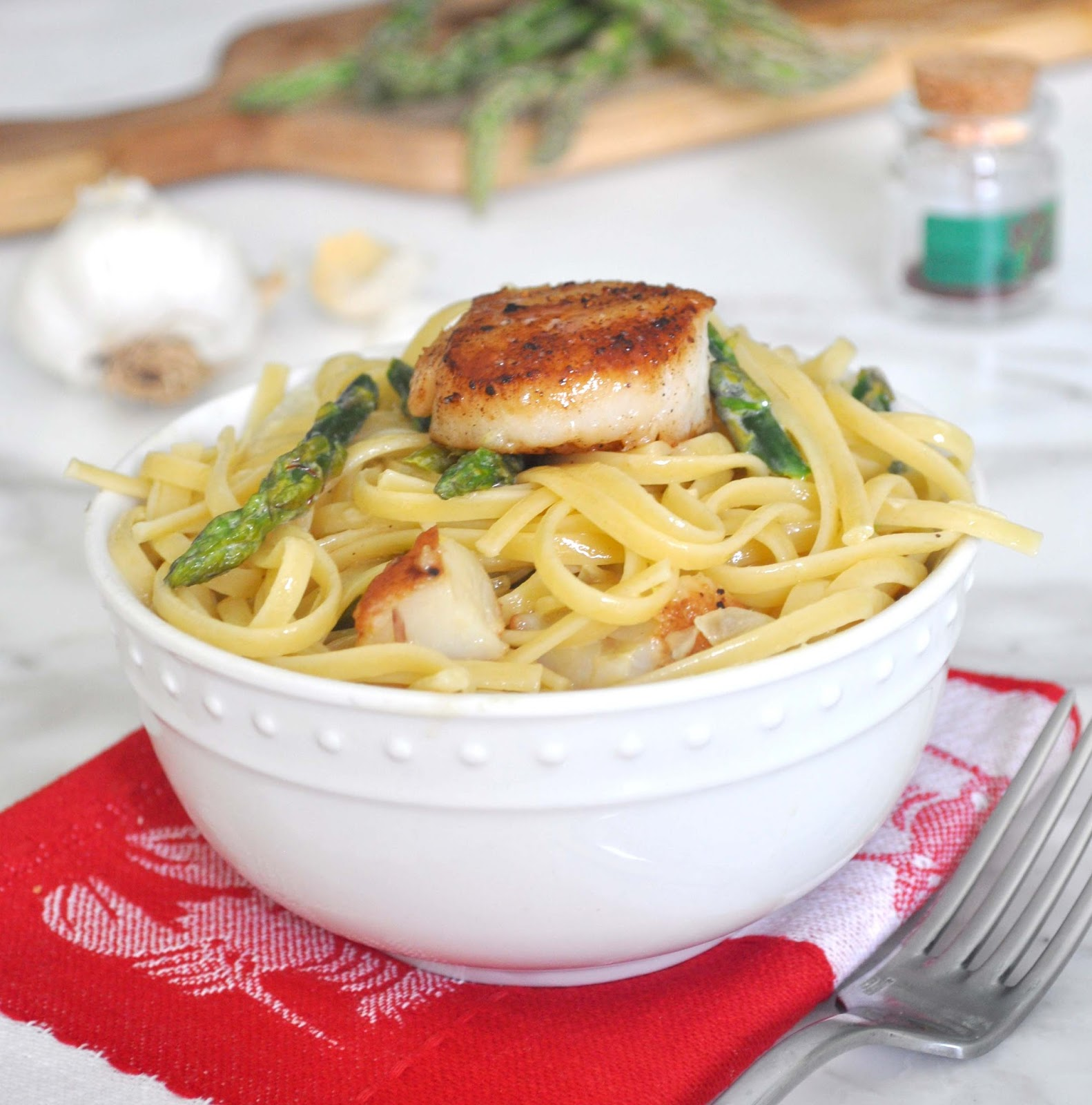 Cooking with Manuela: Linguine Pasta with Sea Scallops and ...