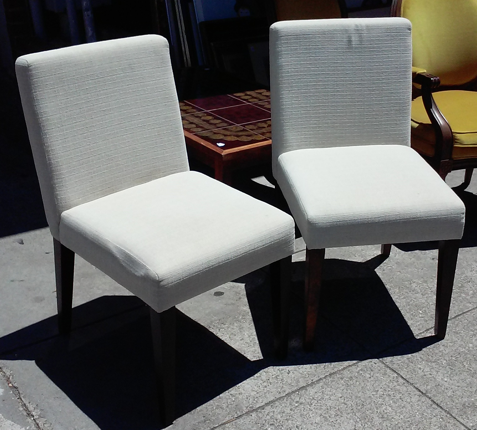 Uhuru Furniture Collectibles Sold Bargain Buy 2931 West Elm Accent Chairs 90 Pair