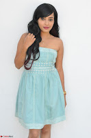 Sahana New cute Telugu Actress in Sky Blue Small Sleeveless Dress ~  Exclusive Galleries 026.jpg