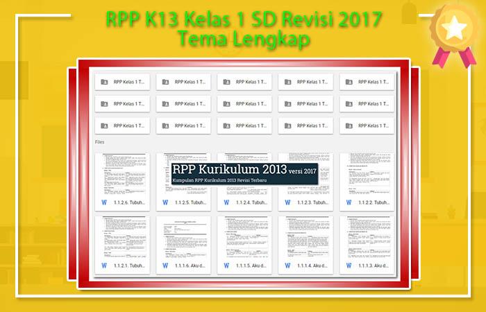 RPP K13 Kelas 1