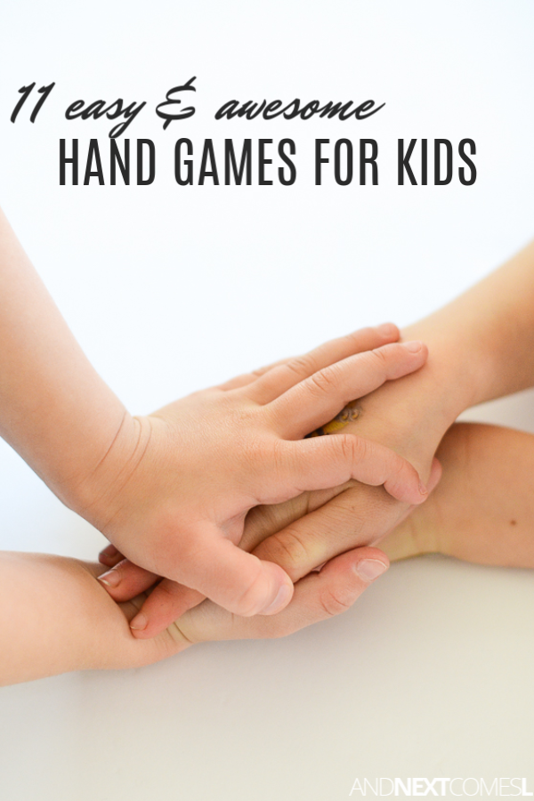 A list of hand game ideas for kids