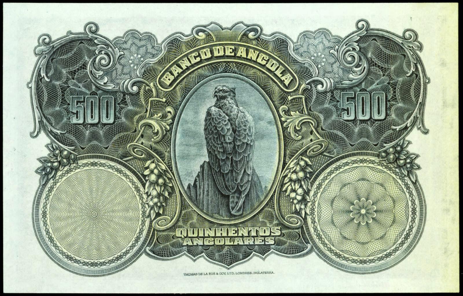 Angola 500 Angolares banknote 1927 eagle