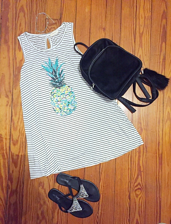 pineapple dress outfit of the day summer 2018