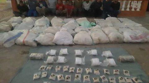 ضبط مليون وسبعون الف قرص من عقار الكبتاجون المخدر وكميات كبيره من مخدر الحشيش بقصد الاتجار