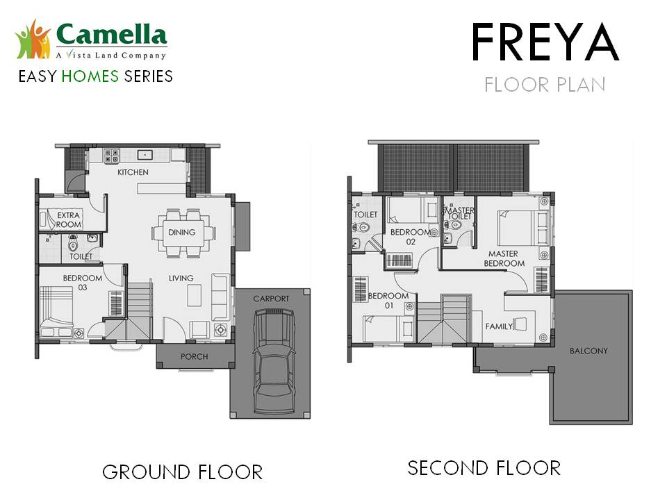Floor Plan of Freya - Camella Dasmarinas Island Park | House and Lot for Sale Dasmarinas Cavite