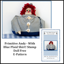 Andy With A Blue Plaid Shirt! Free E-Pattern