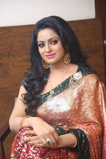 Udaya Bhanu lookssizzling in a Saree Choli at Gautam Nanda music launchi ~ Exclusive Celebrities Galleries 020.JPG