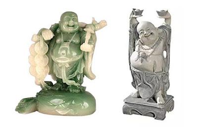 Laughing Jade Buddha with money rope