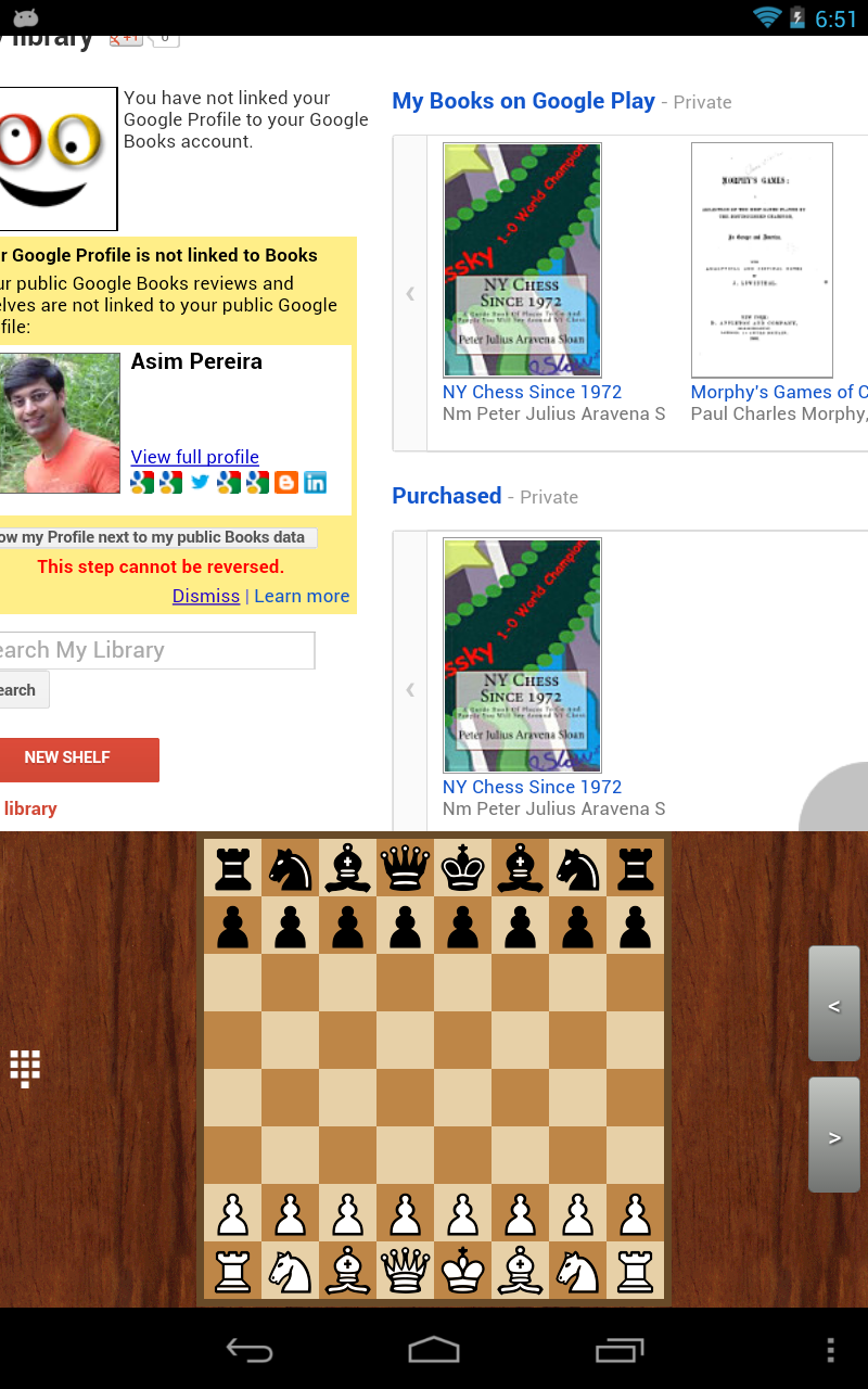 My Chess Apps: Read Google Books using Chess Book Study