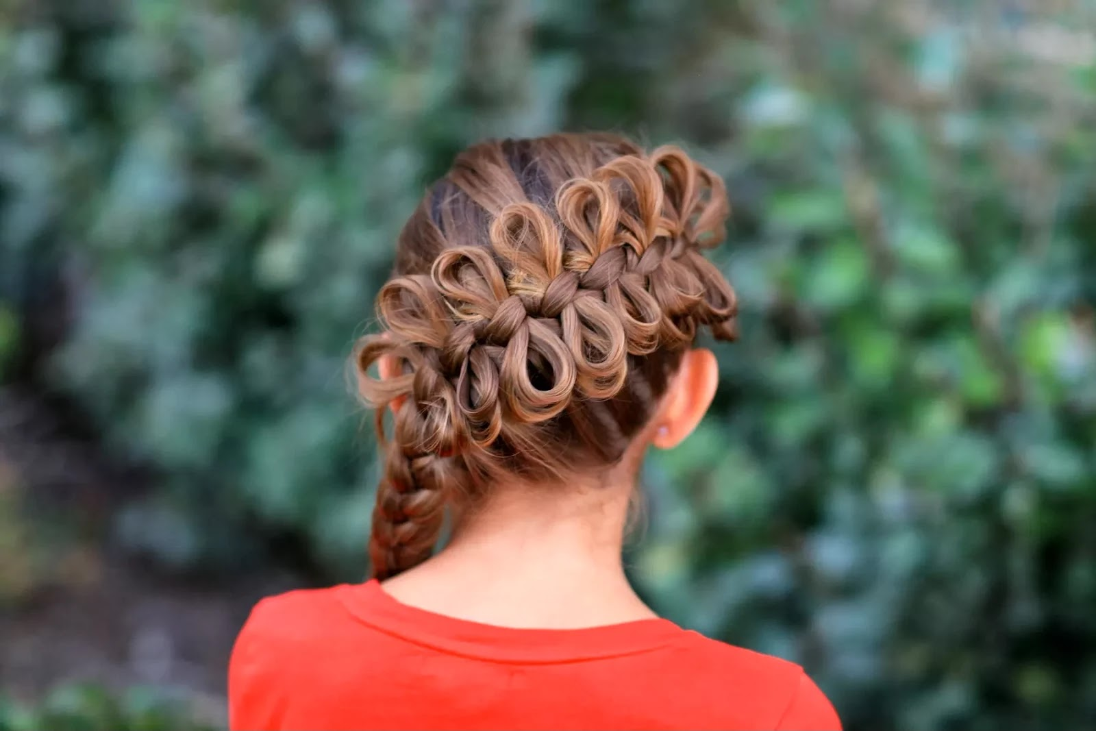 Hair Bow Styles: Women Fashion Updates: Diagonal Bow Braid Hairstyle For Girls