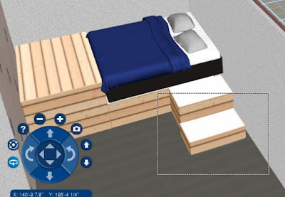 A platform bed designed in DreamPlan