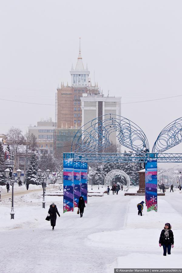 Строящееся здание первого корпуса Мордовского университета