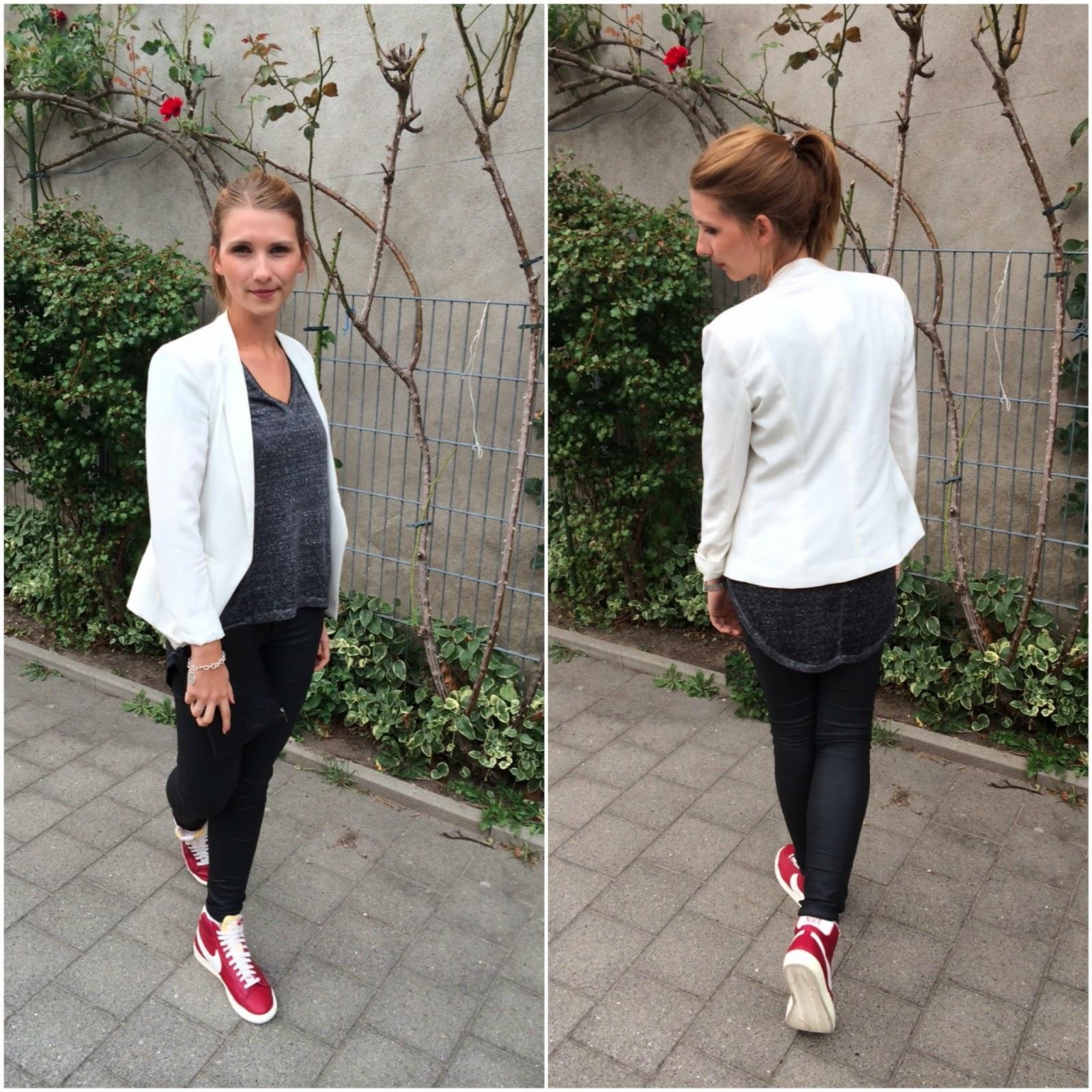 online retailer 8e90d 0777a Blazer Mango - T-Shirt HM - Hose Hallhuber - Schuhe Nike