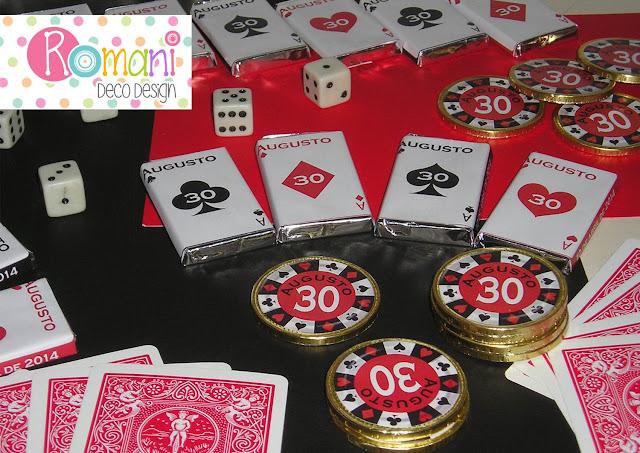 Golosinas Personalizadas tematica Casino o Pocker