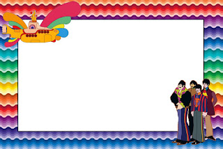 Beatles Yellow Submarine Free Printable Invitations, Labels or Cards.