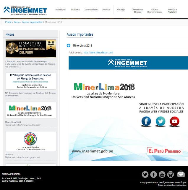 http://www.ingemmet.gob.pe/-/minerlima-2018