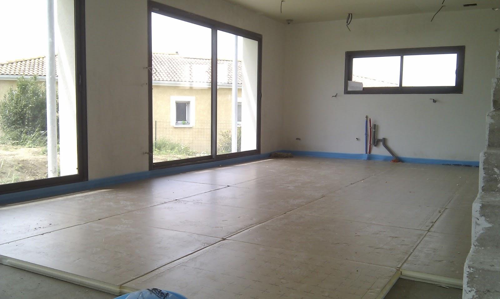 ma maison bioclimatique chauffage au sol chape liquide. Black Bedroom Furniture Sets. Home Design Ideas