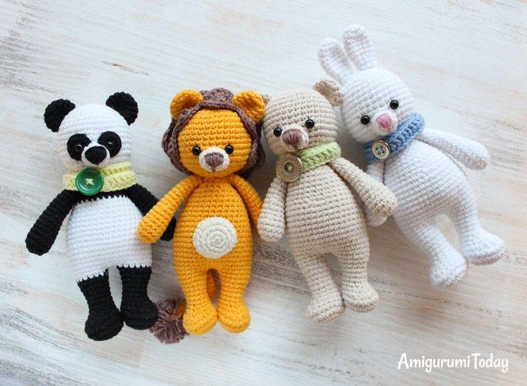 Free Teddy Bear crochet pattern - Amigurumi Today | 563x768