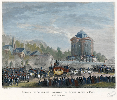 Painting of the Royal Family Return to Paris, by Jean Duplessis-Bertaux, 1791