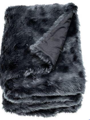 grey faux fur throw blanket