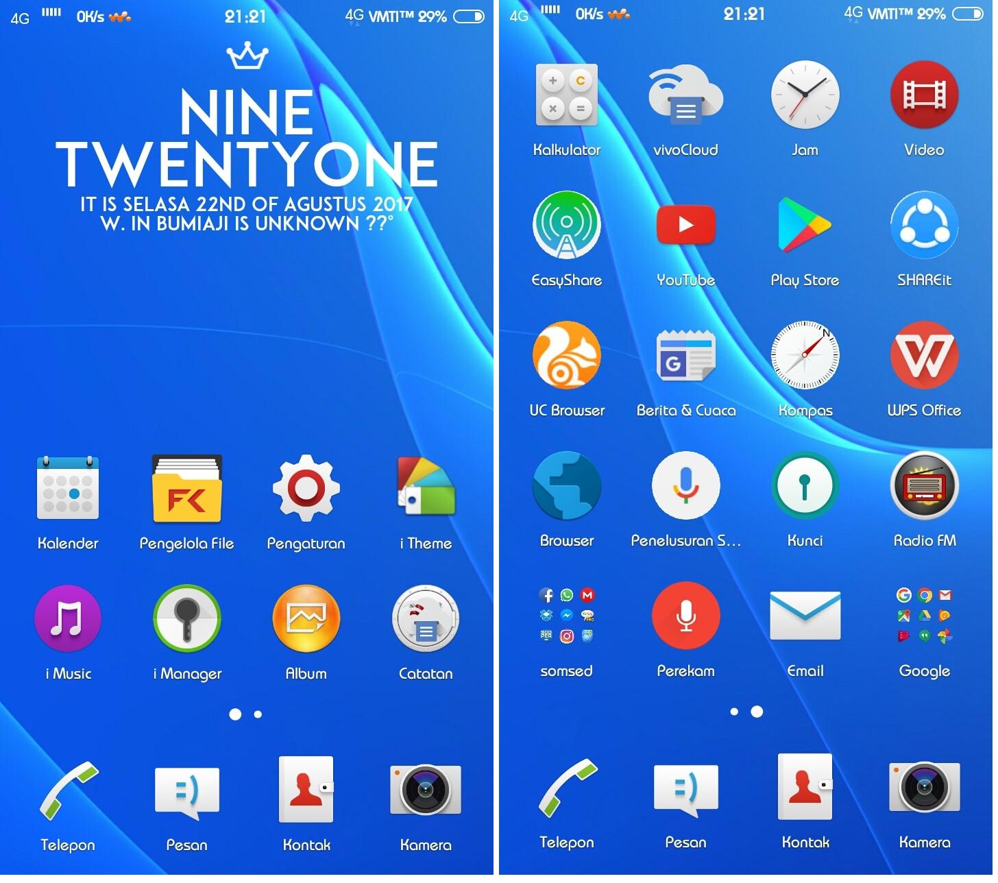 Sony Xperia Theme itz For Vivo - Theme VIVO Terbaru