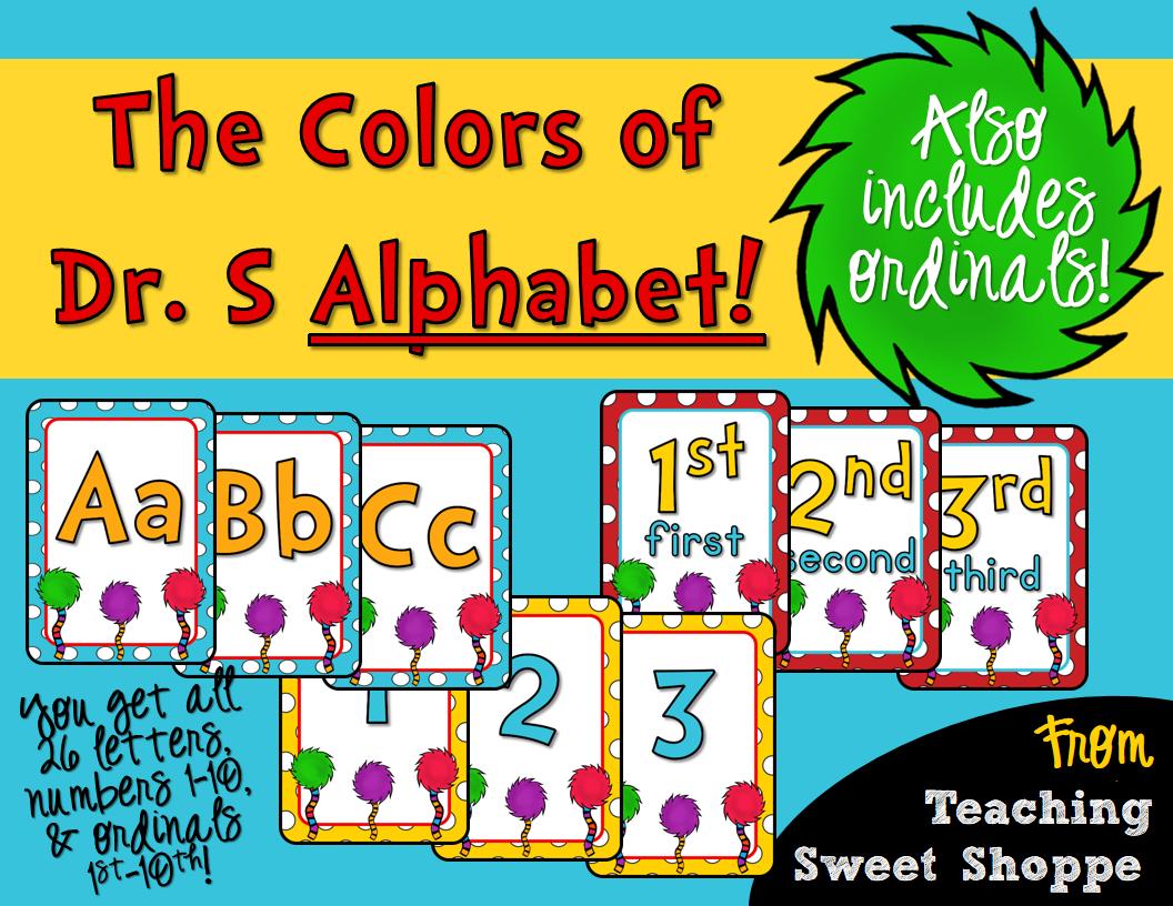The Teaching Sweet Shoppe Dr Seuss Style Alphabet