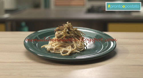 Pronto e postato - Trenette noci e carciofi ricetta Benedetta Parodi