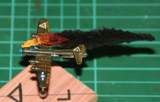 Bomber B17 Fire Flames Marker 1/600 Wargames